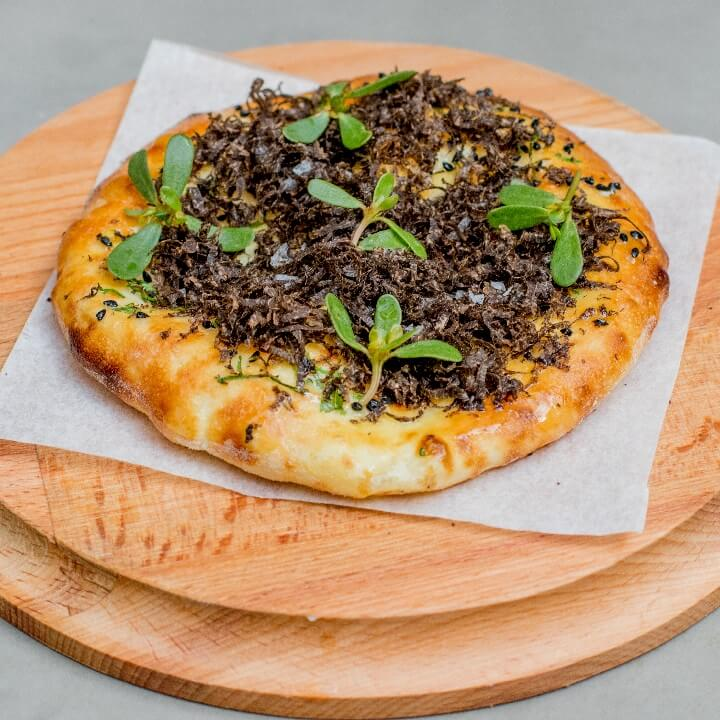 Ricotta kulcha with french black truffles